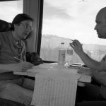 Im Zug unterwegs nach Alpe d`Huez